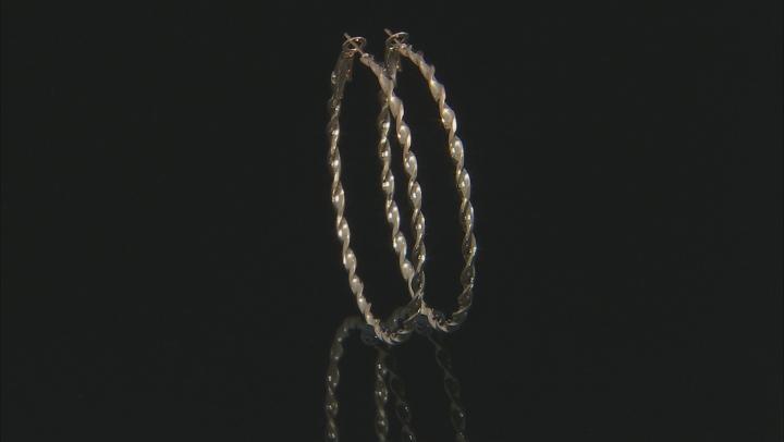 White Crystal Gold Tone Hoop and Stud Earrings Set of 6