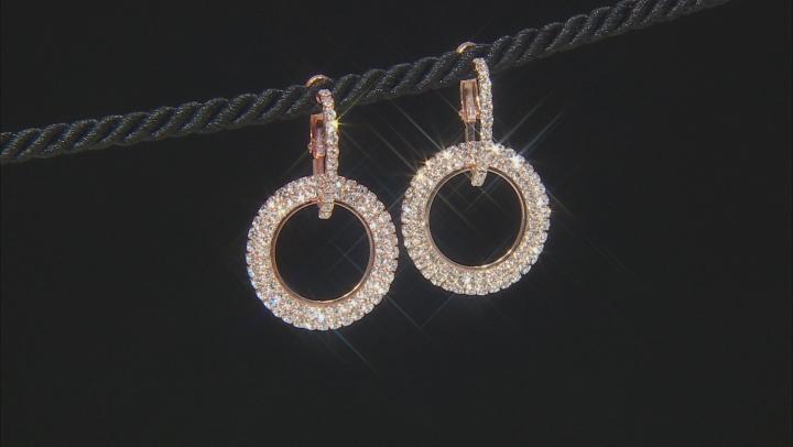 White Crystal Three-Tone Hoop Earring Set Of 3