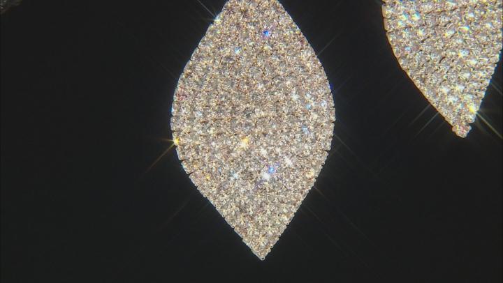 White Crystal Tri-Color Dangle Earrings Set Of 3