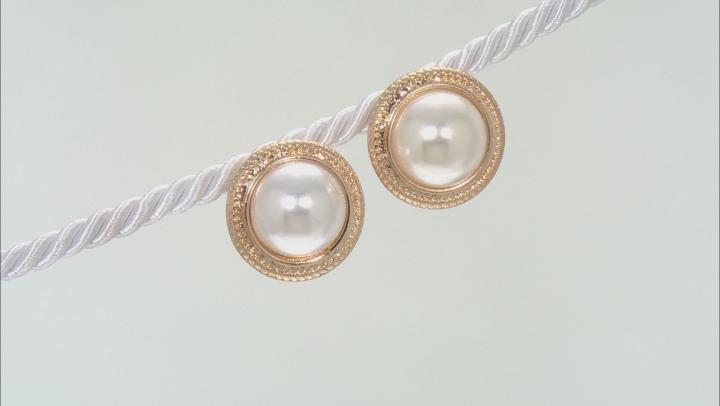 Pearl Simulant Gold Tone Jewelry Set