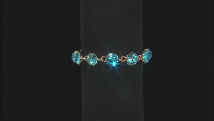 Multi-color Crystal Gold Tone Bracelet Set Of 3
