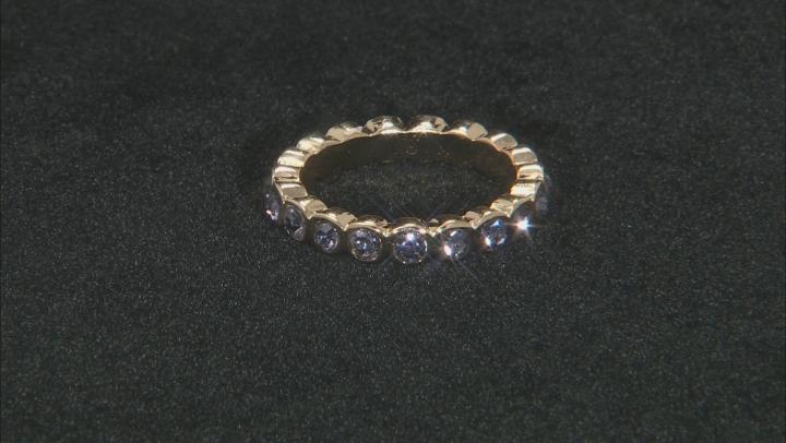 Crystal Gold Tone 3- Band Ring