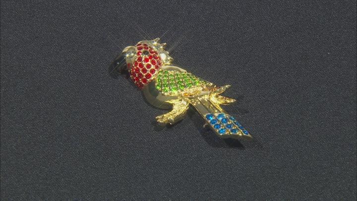 Swarovski Elements ™ Shiny Gold Tone Bird Brooch