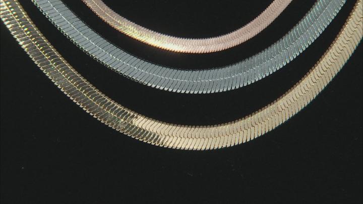 Set Of Three Detachable Tri-Color Chains