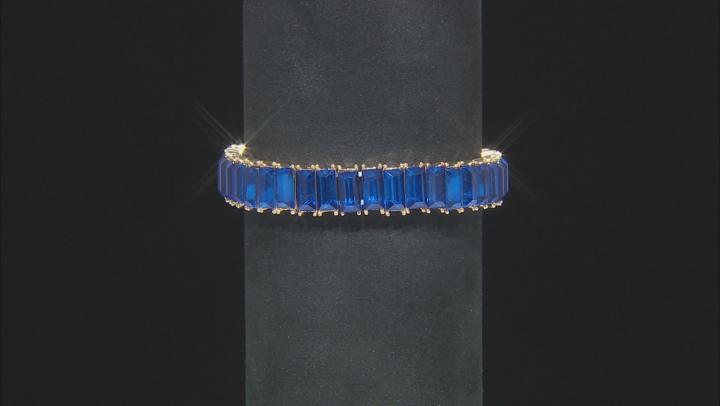 Gold Tone Multi-color Crystal Set of 3 Stretch Bracelets