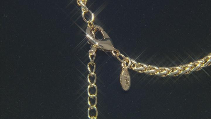 Gold Tone Multi Color Crystal Y Necklace