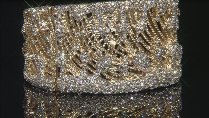 White Crystal Gold Tone Bracelet