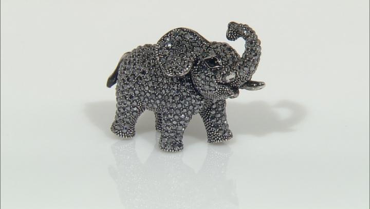 Black Swarovski Elements ™ Gunmetal Tone Elephant