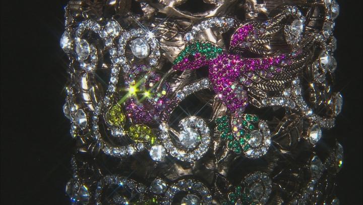 Swarovski Elements ™ Antiqued Gold Tone Hummingbird Bracelet