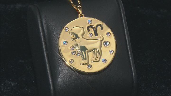 "Swarovski Elements ™ Gold Tone ""Aries"" Necklace"