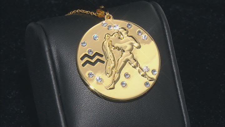 "Swarovski Elements ™ Gold Tone ""Aquarius"" Necklace"