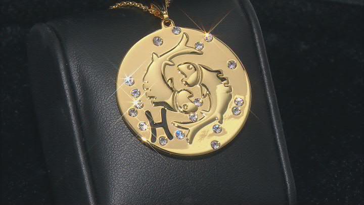 "Swarovski Elements ™ Gold Tone ""Pisces"" Necklace"