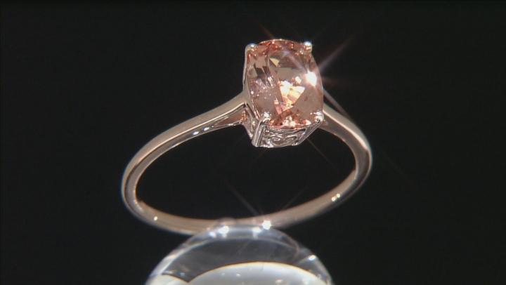 Peach Oregon Sunstone 10k Rose Gold Ring 1.25ct