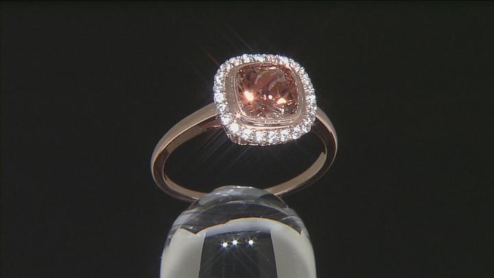 Orange Sunstone 10k Rose Gold Ring 1.90ctw.