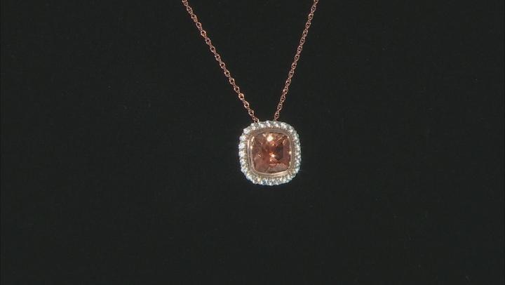 Orange Sunstone 10k Rose Gold Slide With Chain 1.90ctw