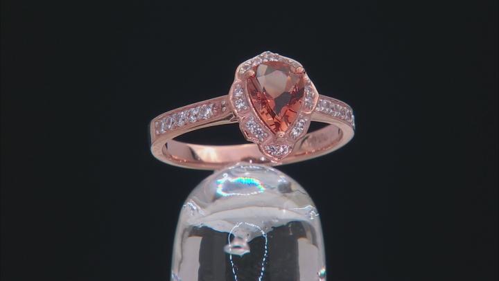 Orange Oregon Sunstone 10K rose gold Ring.  1.09ctw