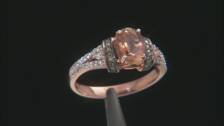 Orange Oregon Sunstone 10K rose gold ring  1.24ctw