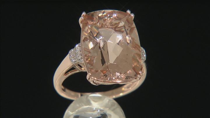 Pink Morganite 10k Rose Gold Ring 10.24ctw