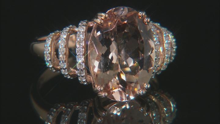 Pink Morganite 10k Rose Gold Ring 5.22ctw