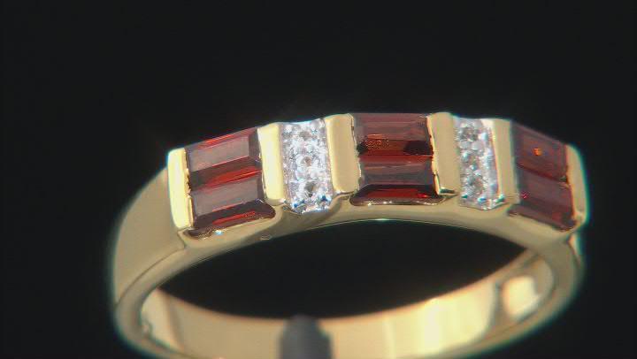 Vermelho Garnet™ 18K Yellow Gold over Sterling Silver Band Ring 0.81ctw