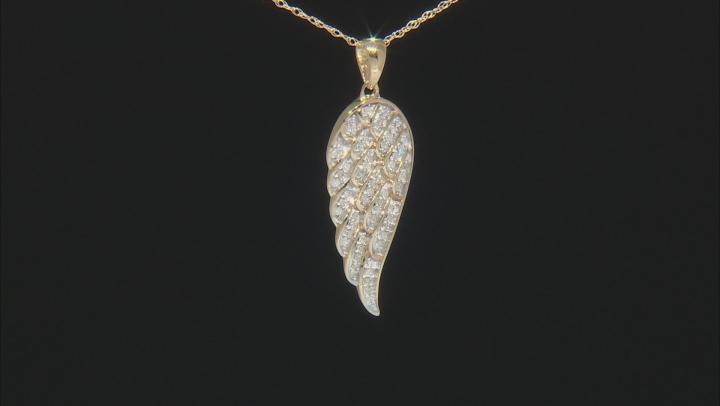White Diamond 14k Yellow Gold Pendant .15ctw