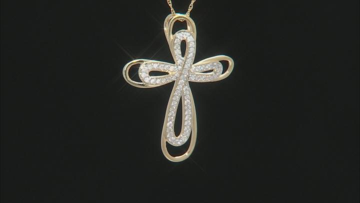 White Diamond 14k Yellow Gold Pendant .33ctw