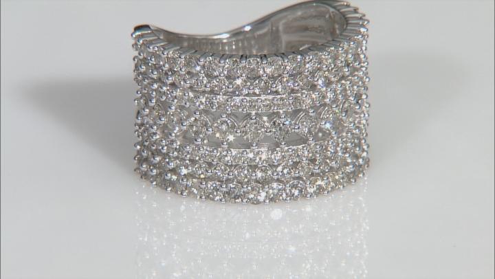 White Diamond 14k White Gold Wide Band Ring 2.00ctw