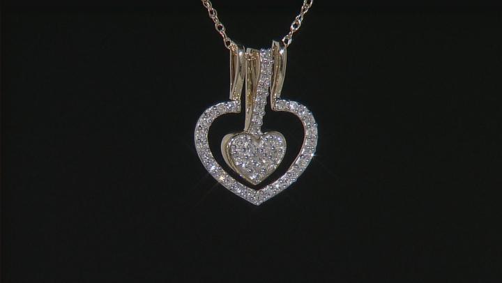 White Diamond 14k Yellow Gold Pendant .22ctw