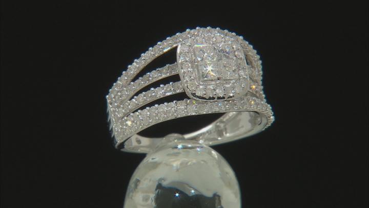 White Diamond 14k White Gold Ring 1.52ctw