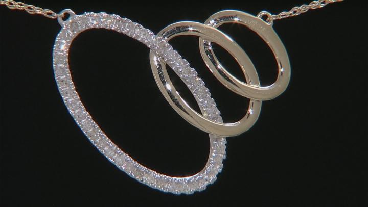 White Diamond 14k Two Tone Necklace .16ctw