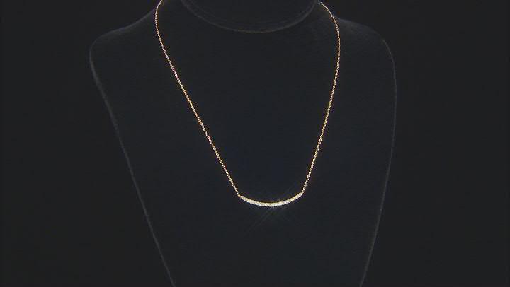 White Diamond 14k Yellow Gold Necklace .50ctw