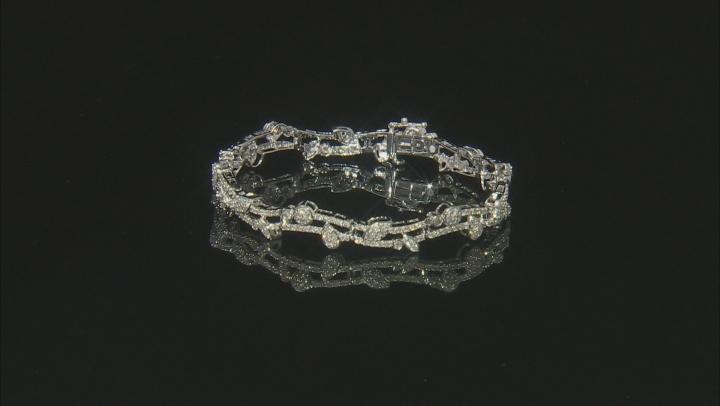White Diamond 14k White Gold Bracelet 3.06ctw