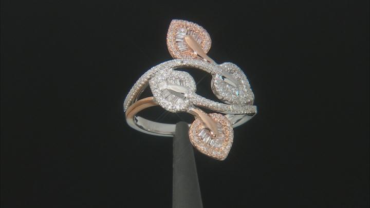 White Diamond 14K Two-Tone Gold Ring 0.50ctw