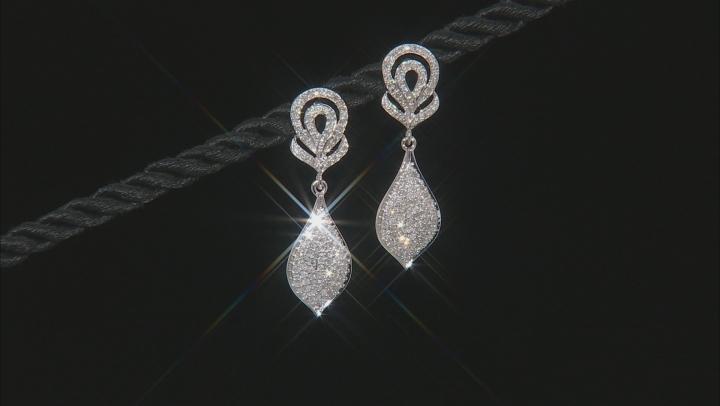 White Diamond 14K White Gold Earrings 0.75ctw