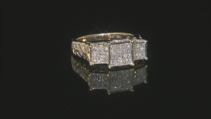 White Diamond 14K Yellow Gold Ring 1.25ctw