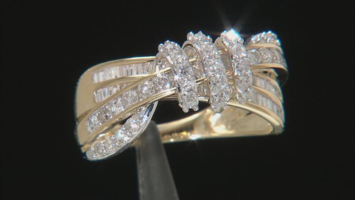 White Diamond 14K Yellow Gold Ring 1.50ctw