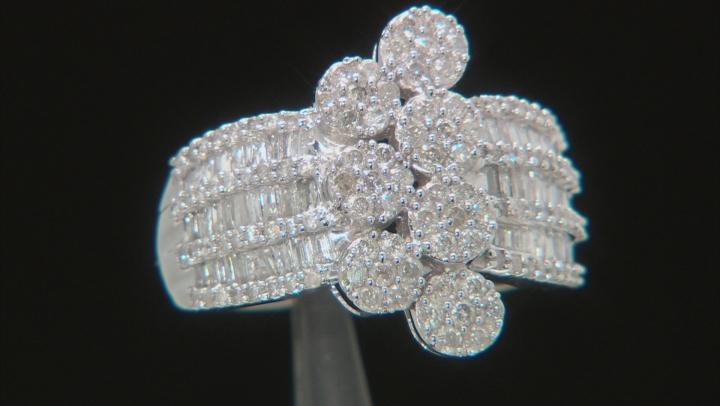 White Diamond 14K White Gold Ring 1.40ctw