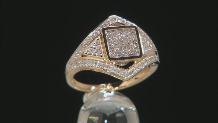 White Diamond 14k Yellow Gold Ring .80ctw