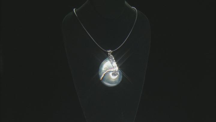 """Multicolor Cukli Shell Silver Pendant With 20"""" Cord"""