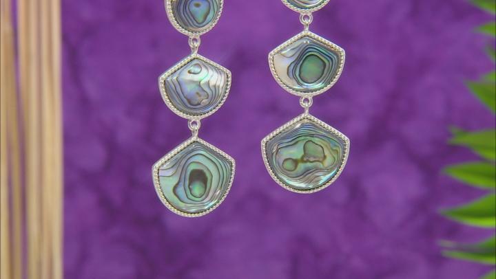 Abalone Shell Sterling Silver Drop Earrings