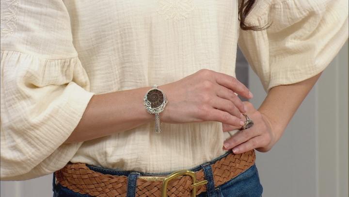 Ammonite Shell Sterling Silver Bracelet