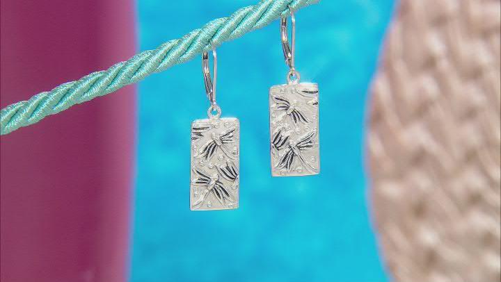 Sterling Silver Dragonfly Earrings
