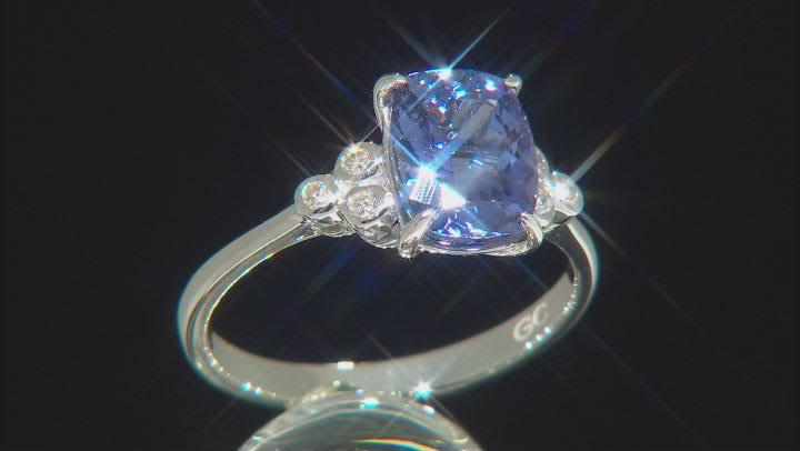 Blue Tanzanite Platinum Ring 2.33ctw