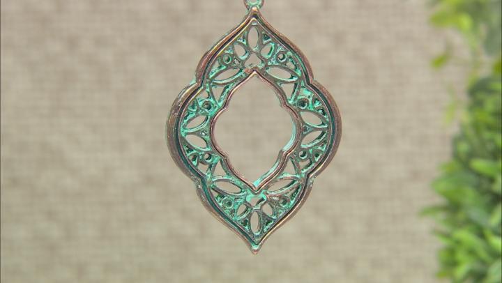Patina Cut Out Quatrefoil Design Necklace