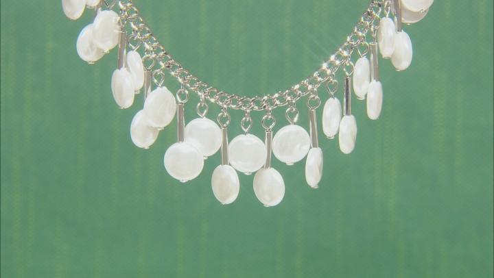 Pearl Simulant Silver Tone Necklace