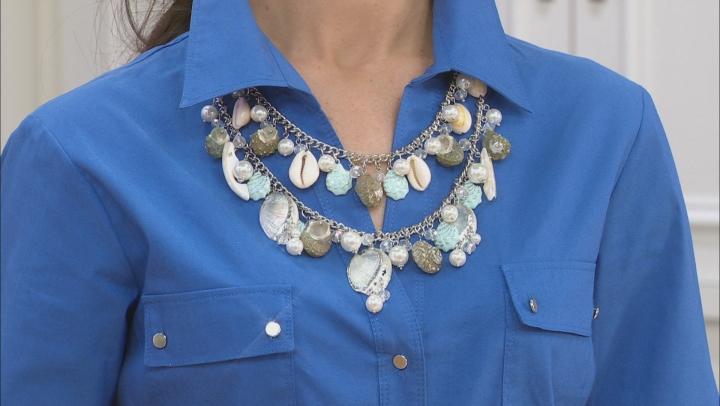 Shell Simulant Silver Tone Seashell Necklace