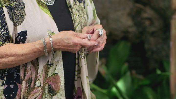 Silver Tone Hammered Stretch Bracelet Set Of Five