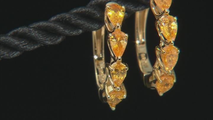 Orange Spessartite 18k Gold Over Silver Earrings 1.76ctw