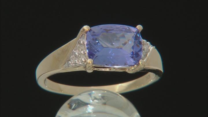 Blue Tanzanite 10k Yellow Gold Ring 1.91ctw