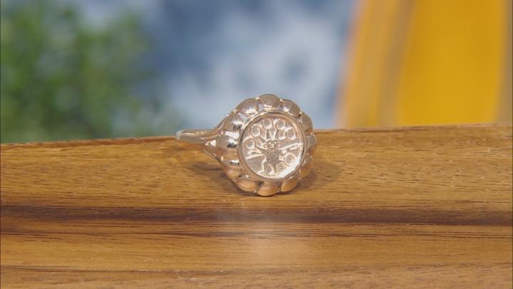 10k Yellow Gold Double Sided Peruvian Shield Ring